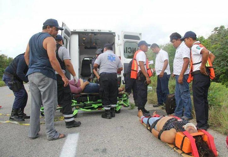 Siete personas resultaron heridas, dos de ellas de gravedad, pues una resultó con traumatismo craneoencefálico. (Redacción/SIPSE)