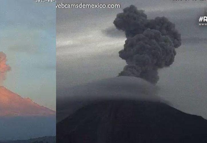 Con diferencia de segundos hicieron explosión los dos volcanes. (Milenio)