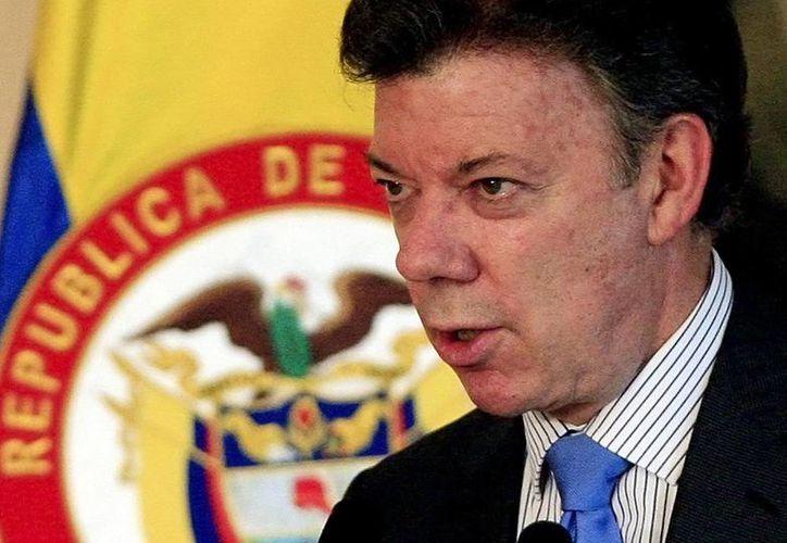 """""""En nuestro gob. penalizamos discriminación y adoptamos política para proteger discapacitados. No hay derecho a discriminar"""", dijo Juan Manuel Santos. (EFE)"""