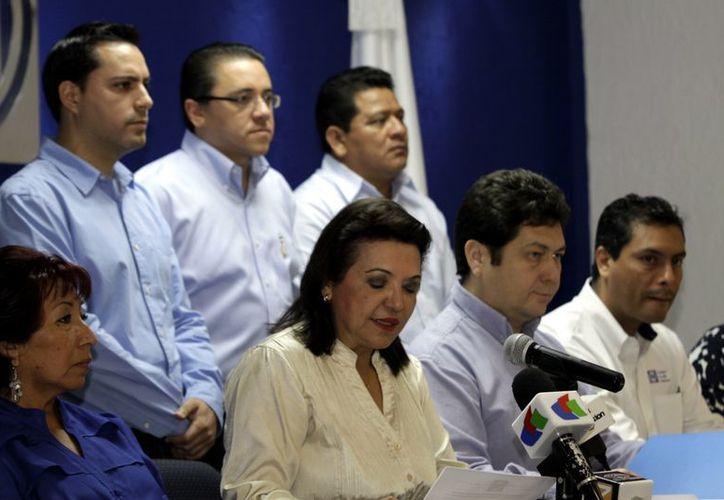 En conferencia de prensa, diputados locales del PAN presentaron su agenda legislativa. (Christian Ayala/SIPSE)