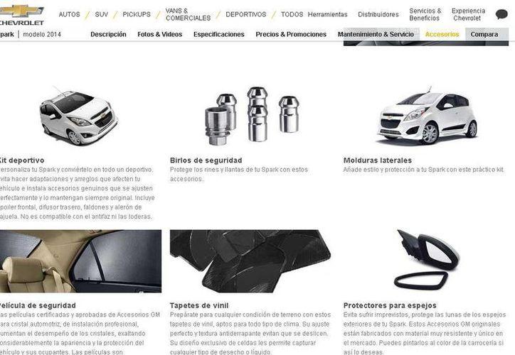 Los clientes de Chevrolet pueden seleccionar los accesorios que más les gusten para sus autos. (chevrolet.com.mx)