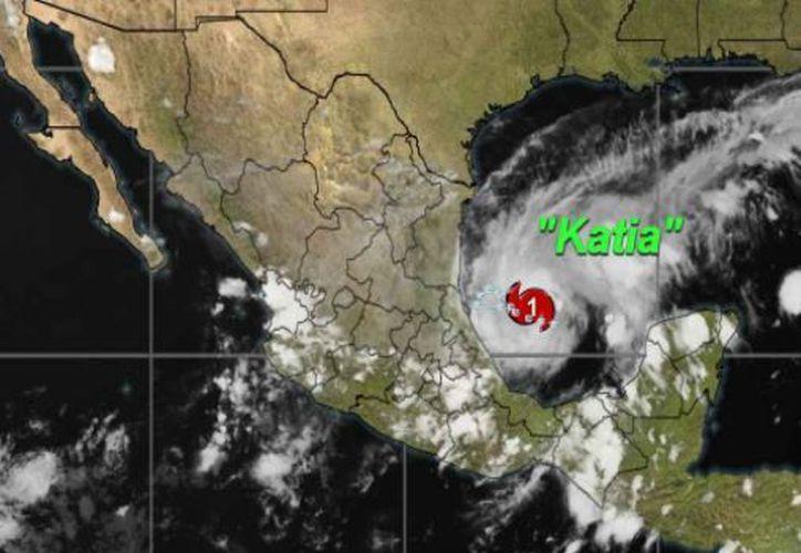 El huracán Katia amenaza con tocar territorio mexicano. (Conagua)