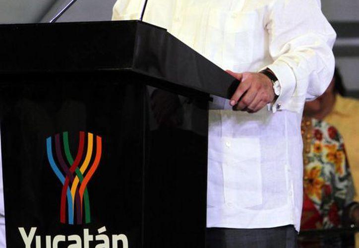 El titular de Sedatu, Jorge Carlos Ramírez Marín, destacó la inversión realizada para el segundo Anillo Periférico de Mérida. (Notimex)