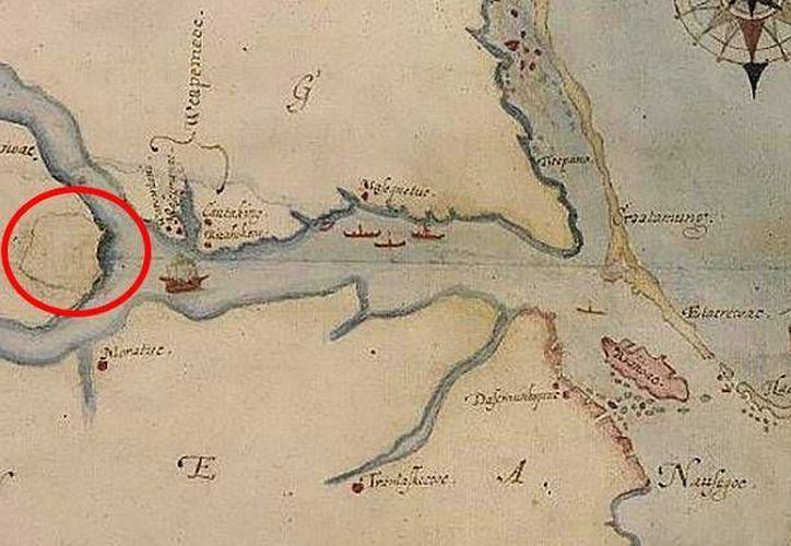 Un secreto oculto en un mapa antiguo ha puesto a los científicos sobre la pista de una hipótesis que podría explicar el enigma de los pioneros ingleses. (MundoWikipedia.org/John Whit/British Museum /Public Domain)