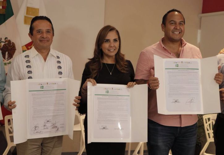 Mara Lezama firmó la carta de intención del acuerdo para la Modernización de las Administraciones Públicas Locales. (Redacción/SIPSE)
