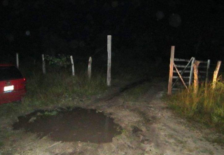 Este es el lugar donde un rayo mató a un menor de 12 años. (Edgardo Rodríguez/SIPSE)
