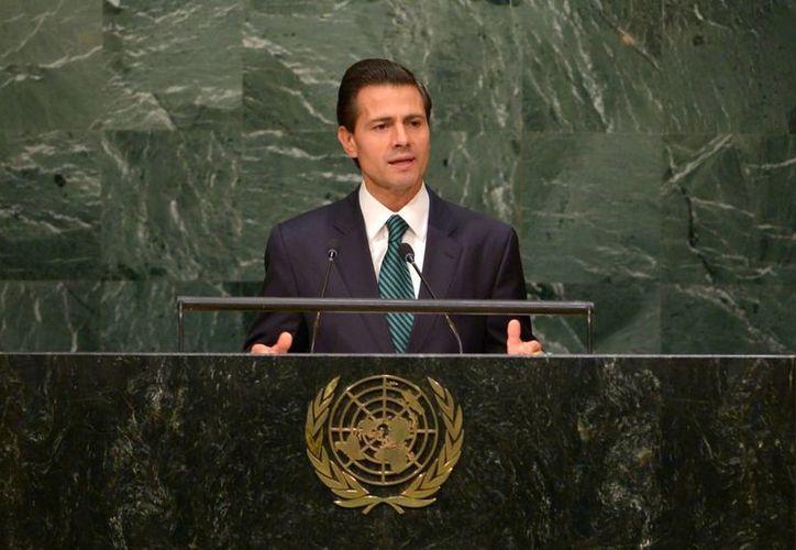 El presidente Enrique Peña Nieto celebró que México adoptara la Agenda 2030, que aborda la inclusión social y la prosperidad, como un compromiso de Estado. (Notimex)