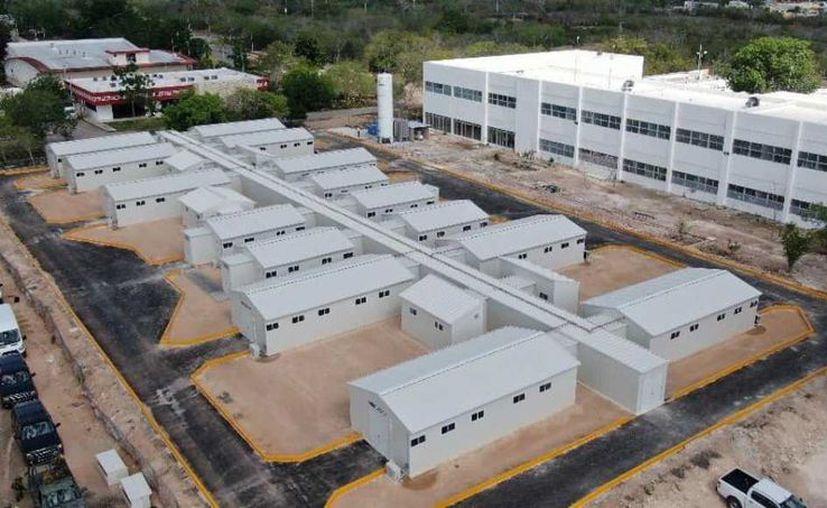 El hospital provisional se ubica en terrenos del Hospital General de Valladolid. (Novedades Yucatán)