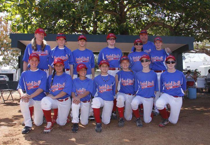 La escuadra campeona Baseball For All, de Estados Unidos. (Juan Albornoz/SIPSE)