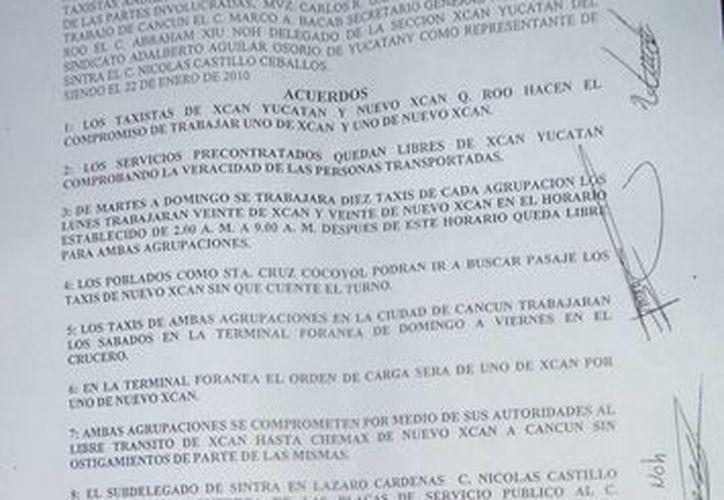 El documento fue firmado el 22 de enero del 2010. (Raúl Balam/SIPSE)