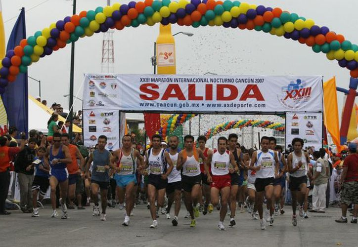Corredores de varias partes del mundo y México estarán en el Maratón de Cancún. (Redacción/SIPSE)