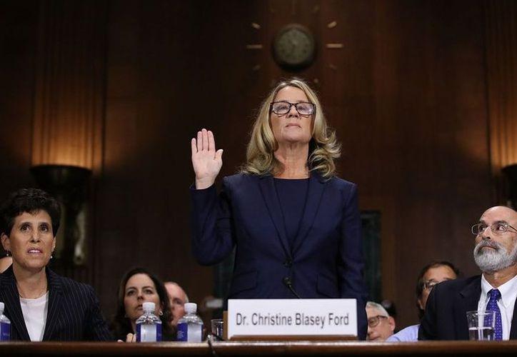 La mujer asegura haber sido atacada por el hombre propuesto por el presidente estadounidense para ser titular de la Suprema Corte. (Milenio)