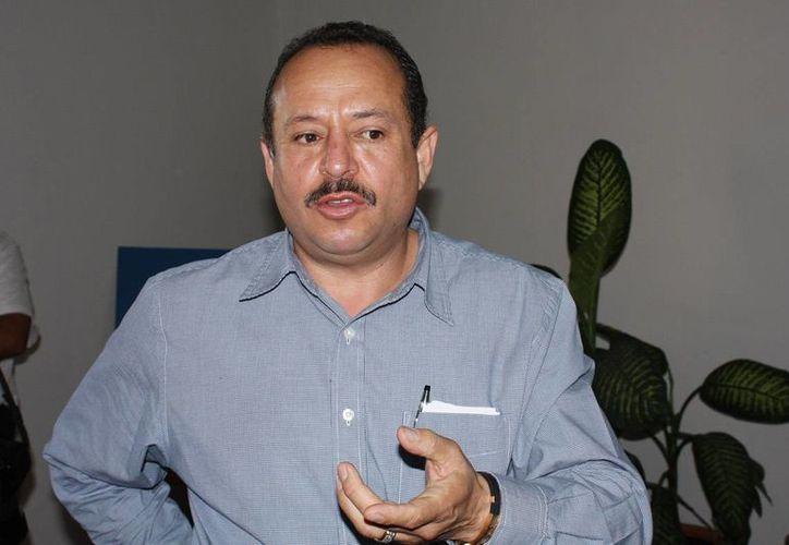 Imagen del líder de la Comisión Reguladora del Transporte y exdiputado priista de Michoacán, José Trinidad Martínez Pasalagua, quien fue detenido hoy. (Raúl López Mendoza/Cambio de Michoacán)