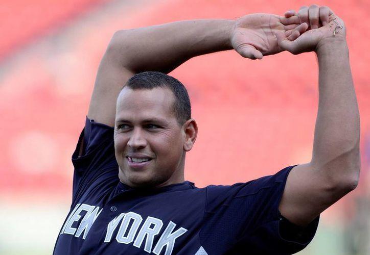 En la imagen, el tercera base Alex Rodríguez de los Yanquis de Nueva York. (EFE/Archivo)