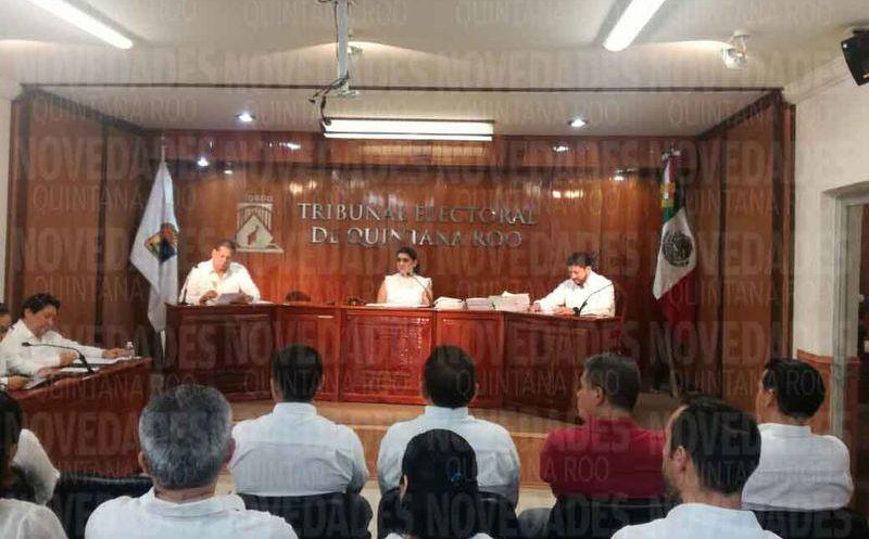 El anuncio se dio en la sesión del Tribunal Electoral de Quintana Roo (Teqroo). (Benjamín Pat/SIPSE)