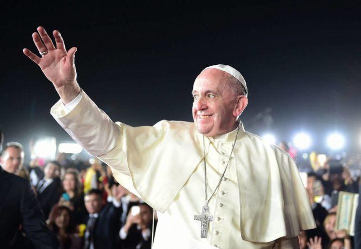 Francisco finalizó su primera visita pastoral a México tras una misa binacional en Ciudad Juárez, en la frontera con Estados Unidos. (Archivo/Notimex)