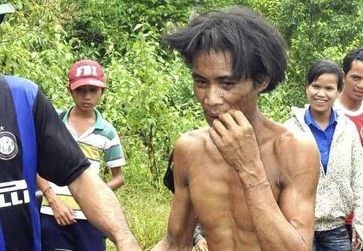 Hoa Van Lang, de 41 años, al momento de ser encontrado. (RT)