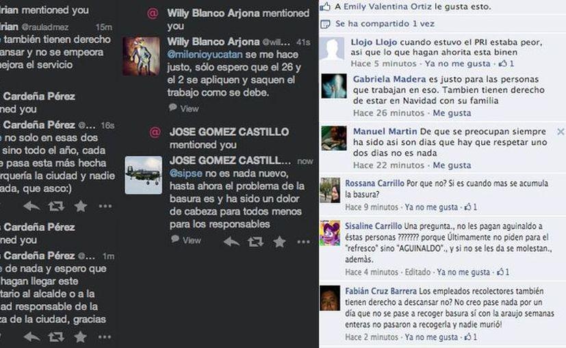 Algunos de los comentarios publicados en redes sociales. (Sipse.com)