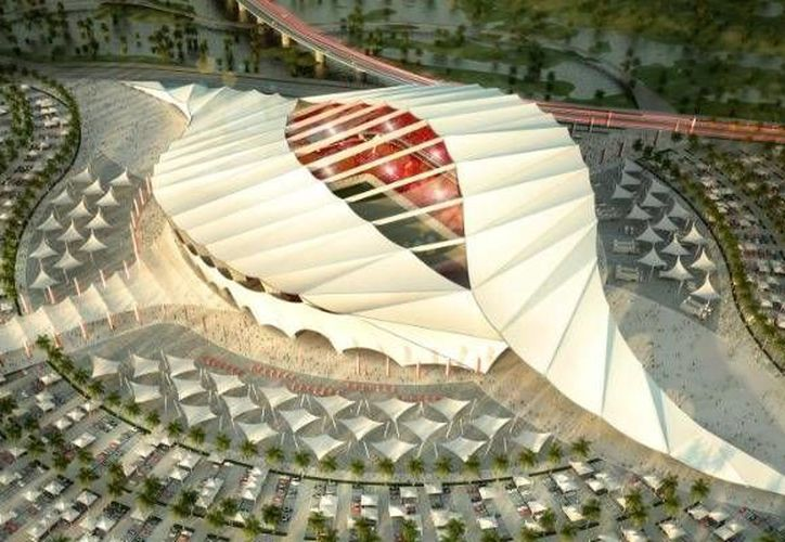 Maqueta de uno de los estadios que albergará la Copa del Mundo en 2022 en Qatar. (marca.com/Archivo)
