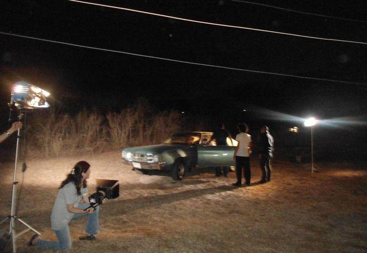 Parte de la grabación del documental sobre El Charras. (Cecilia Ricárdez/SIPSE)