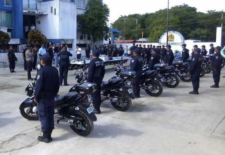 El Grupo Motorizado de la Policía Estatal Preventiva (PEP) fue activado el día de ayer en Chetumal. (Redacción/SIPSE)