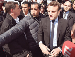 Video emerges of Macron bodyguard beating protester