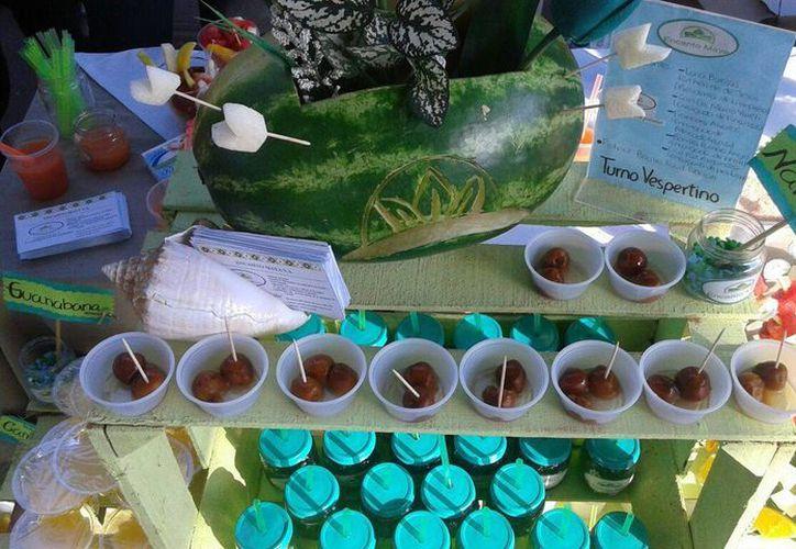 Parte de los productos que presentaron los estudiantes. (Redacción/SIPSE)