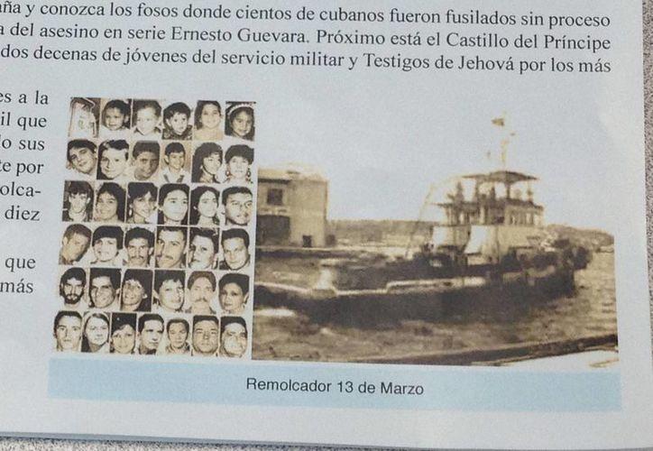 """Foto del remolcador """"13 de marzo"""", donde 41 personas que trataban de huir de Cuba murieron ahogadas en las costas de La Habana. (Archivo/EFE)"""