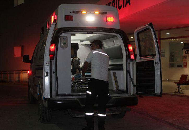 El herido ingresó al área de terapia intensiva del Hospital General, donde reportaron su estado de salud como delicado. (Redacción/SIPSE).