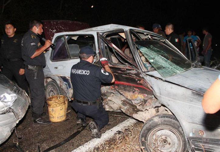 En 5 meses de 2015, han muerto 81 personas en accidentes de tránsito, en Yucatán. La imagen está utilizada únicamente como contexto. (Milenio Novedades)