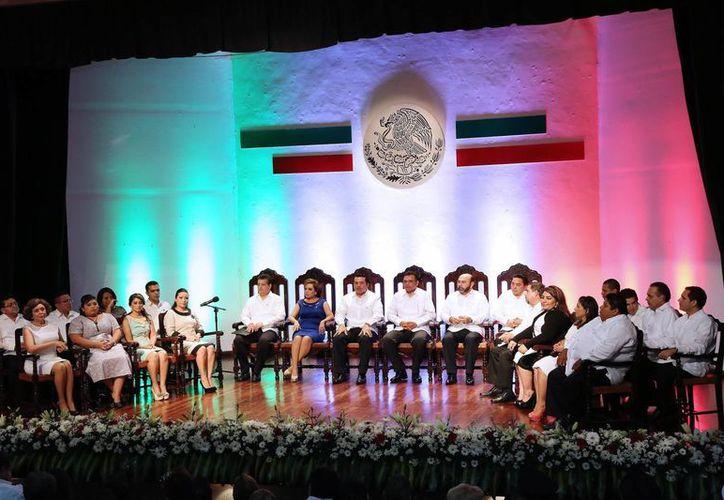 Aspecto de la Sesión Solemne del Cabildo de Mérida. (SIPSE)