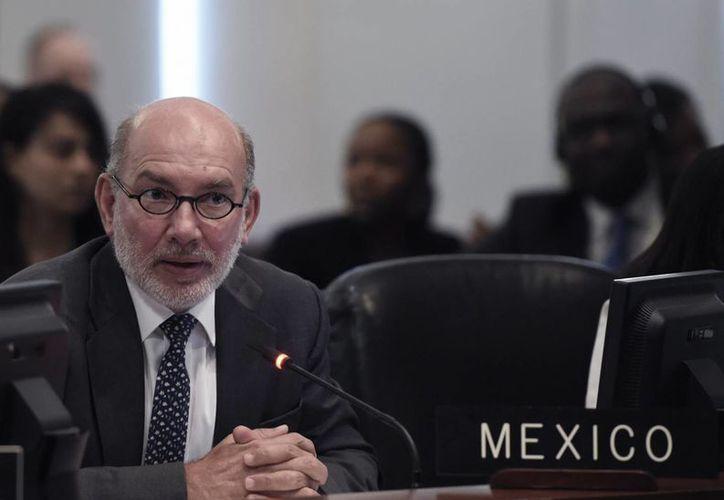 Las declaraciones del representante permanente de México ante la Organización de Estados Americanos (OEA), Luis Alfonso de Alba, enfurecieron a las autoridades nicaragüenses. (EFE/Archivo)