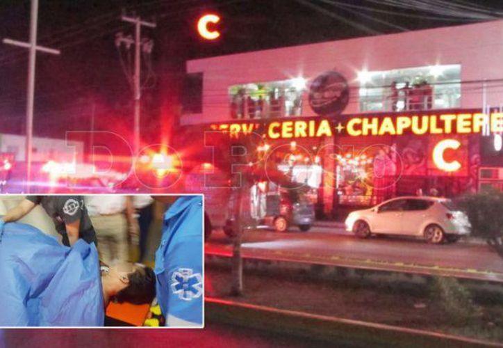 La balacera dejó 11 lesionados y un muerto.