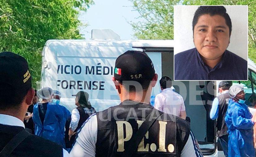 El cuerpo del joven fue encontrado ayer en la carretera Euán-Ekmul. (Novedades Yucatán)