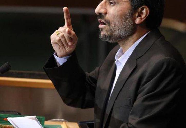 """Ahmadineyad reprochó al """"malvado enemigo"""" (EU) su preocupación por los avances iraníes. (Agencias)"""