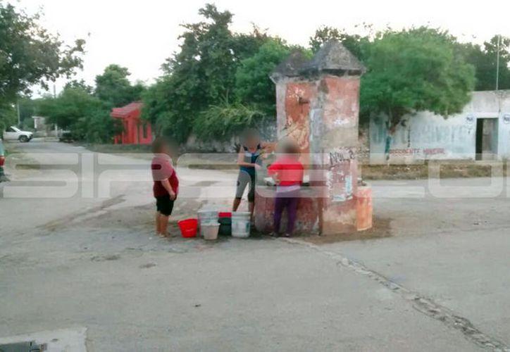 El servicio de agua fue suspendido por la falta de energía eléctrica al Ayuntamiento. (SIPSE)