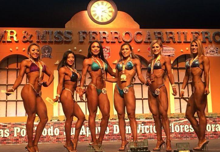 Representantes de Yucatán que participaron en el Nacional de Fisiconstructivismo y Fitness. (Foto:Milenio Novedades)