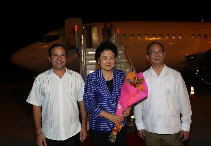La viceprimera ministra del Consejo de Estado de la República Popular de China, Liu Yandong, inició en Cancún su gira por México. (cancun.gob.mx/)