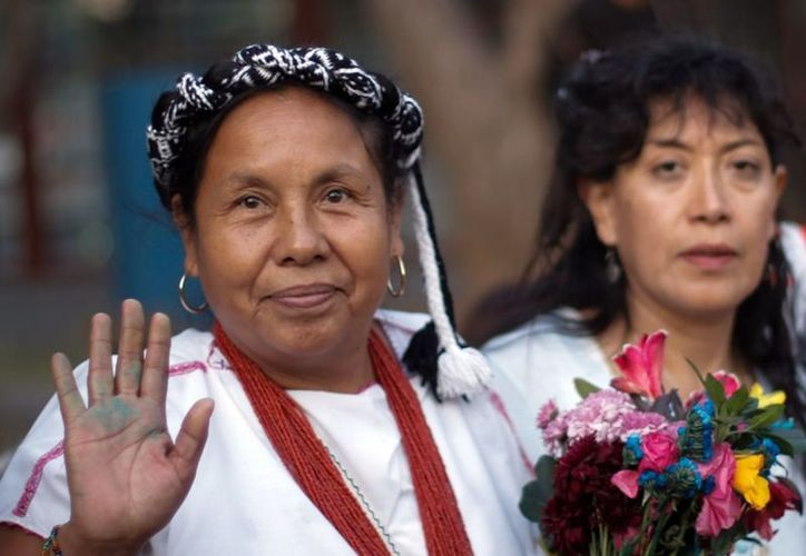 La aspirante a la candidatura por la vía independiente, María de Jesús Patricio, se retiró de la contienda electoral. (Foto: Xinhua)