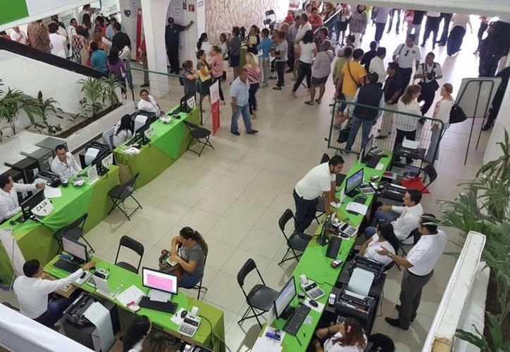 Ayer se registraron fallas en el inicio del programa en el Ayuntamiento. (Jesús Tijerina/SIPSE)