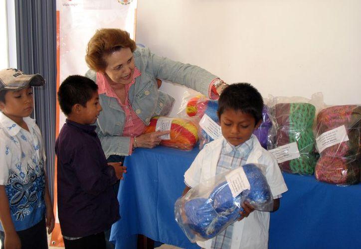 En total se donaron 65 hamacas coloridas de nylon y algodón. (Milenio Novedades)
