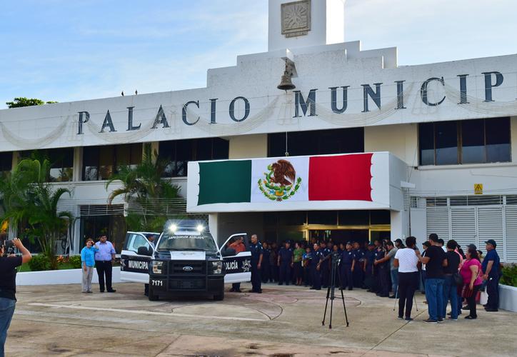 Durante el gobierno de Perla Tun sólo se adquirieron tres patrullas, y se redujo el número de elementos policíacos. (Gustavo Villegas/SIPSE)