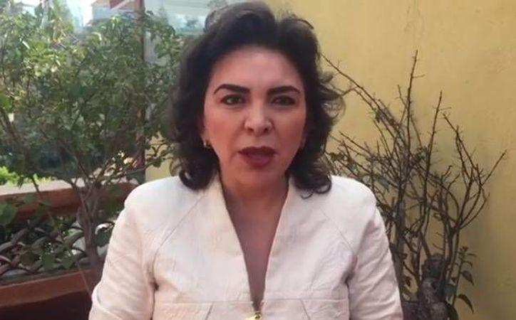Ivonne Ortega dijo por medio de un video en Facebook que es víctima de una campaña negra. (Captura de pantalla)