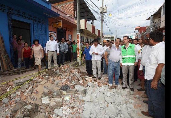 Entre los municipios chiapanecos afectados por el sismo de este lunes destacan Huixtla, Mapastepec y Cacahoatán. (twitter.com/VelascoM_)