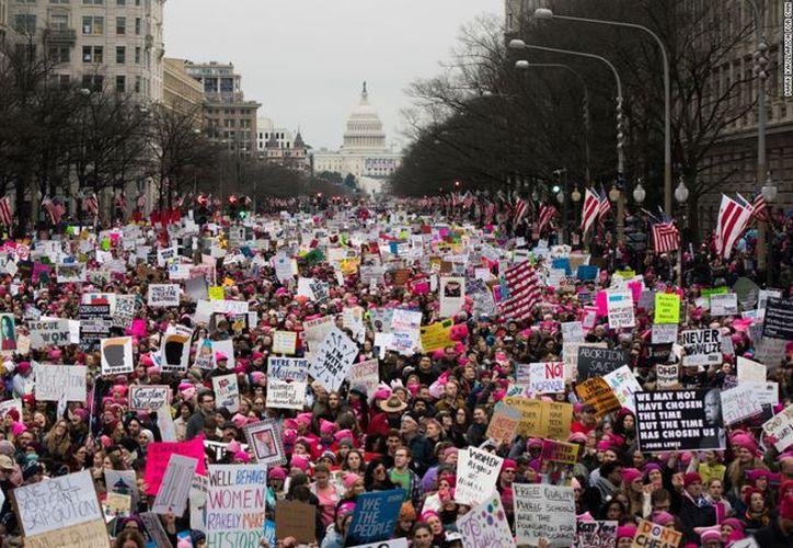 Women's March 2017 empezó en Washington DC con celebridades de Hollywood. (Contexto)