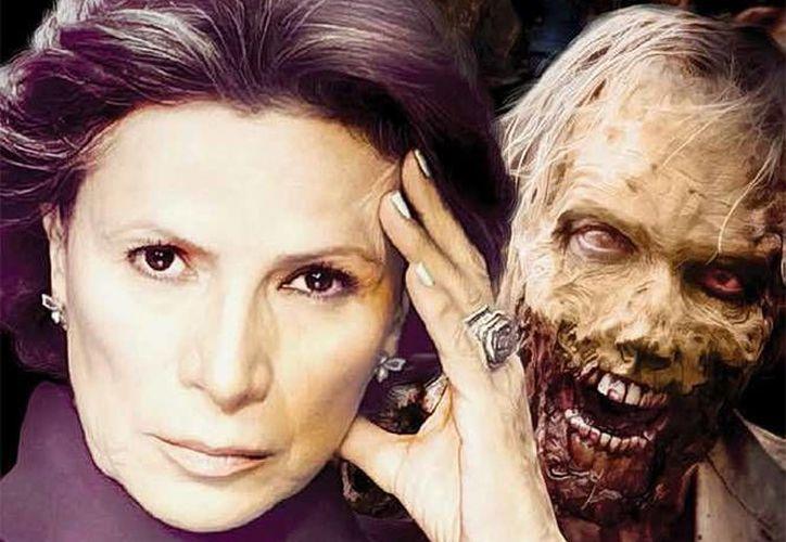 La actriz mexicana Patricia Reyes Espíndola comentó que ha llegado al punto máximo de su carrera con su participación en la serie de televisión  'Fear The Walking Dead'. En la foto, Reyes Espíndola en un póster de la serie (patriciareyesspindola.mx)