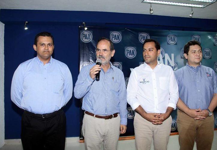 Gustavo Madero, de gira en apoyo del candidato panista. (Milenio Novedades)