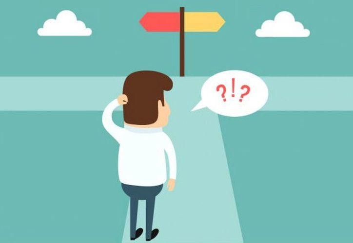 En ocasiones las opciones y circunstancias son abrumadoras y no ayudan a tomar una decisión. (Internet)