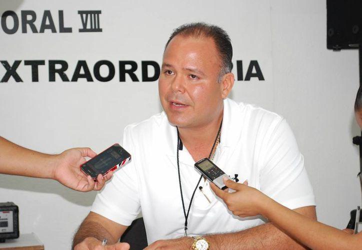José Luis González Nolasco, consejero presidente del Distrito VIII. (Tomás Álvarez/SIPSE)