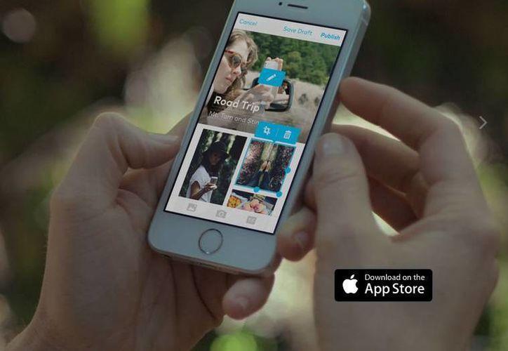 Storehouse permite a los usuarios combinar imágenes, videos y palabras para compartir. (Captura de pantalla/Storehouse.co)